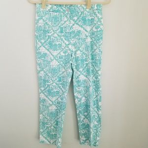 Lilly Pulitzer Printed Blue Ankle Pants Size 2